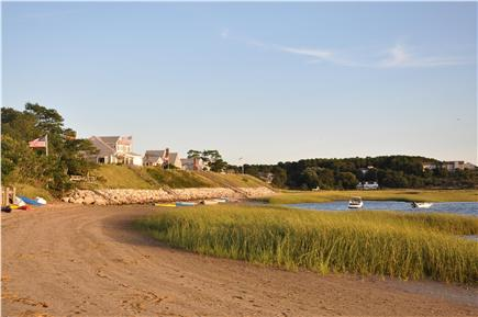 Wellfleet Cape Cod vacation rental - View from private beach looking left toward Chipman's Cove