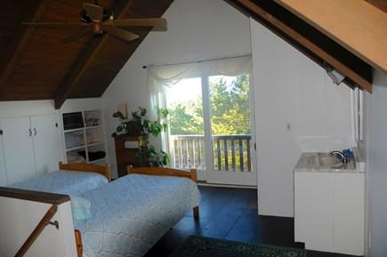 North Truro Cape Cod vacation rental - Loft sleeping space with half bathroom