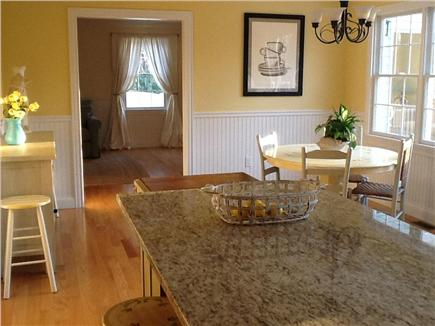 Brewster, Chatham/Orleans Cape Cod vacation rental - The delightful Breakfast area overlooking the deck