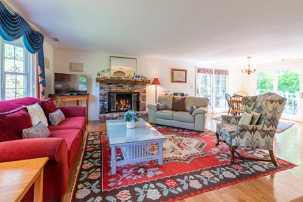 Chatham Cape Cod vacation rental - Gas fireplace in living room