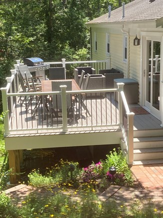 Chatham Cape Cod vacation rental - New spacious deck with plenty of seating and gas grill