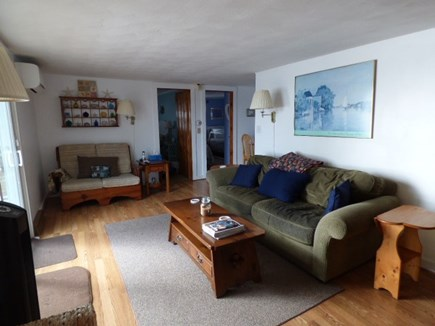 W. Yarmouth Cape Cod vacation rental - Living room with slider to out back
