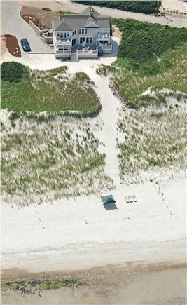 Dennis Cape Cod vacation rental - An Aerial view of the 1.1 Acre Property With a 110' Private Beach