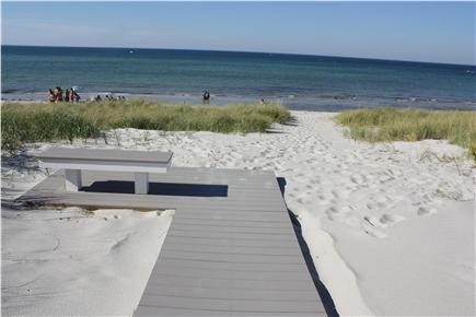 Dennis Cape Cod vacation rental - The Boardwalk & Bench Right Above the Private Beach