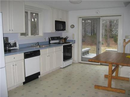 Dennis Cape Cod vacation rental - Open kitchen to back deck