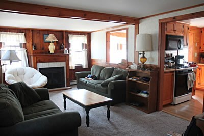 Dennisport Cape Cod vacation rental - Living room with sleep sofa