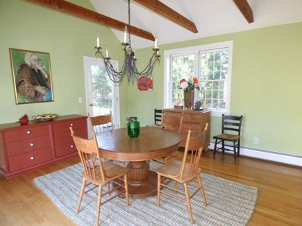 Yarmouthport Cape Cod vacation rental - Dining room with access to back deck