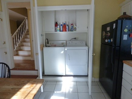 Yarmouthport Cape Cod vacation rental - Washer and Dryer in Kitchen