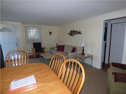 Dennisport Cape Cod vacation rental - Dining and living room view