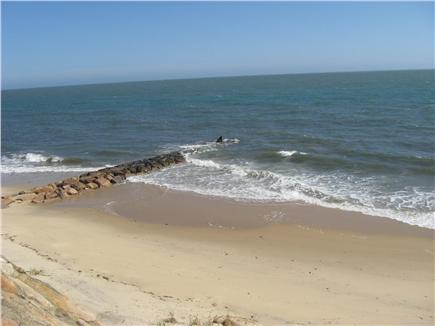 Dennisport Cape Cod vacation rental - Looking East on Private Oak Street Beach only 2/10ths away