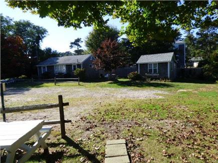 Dennisport Cape Cod vacation rental - View of back area on The Willows Cottages