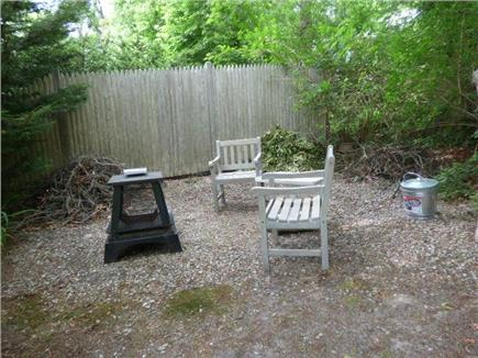 Yarmouthport Cape Cod vacation rental - Fire pit in upper back yard