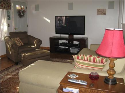 Yarmouthport Cape Cod vacation rental - Living room w/flat screen TV
