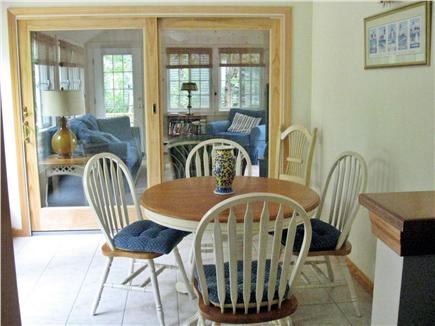 Yarmouthport Cape Cod vacation rental - Dining Area with slider to back patio