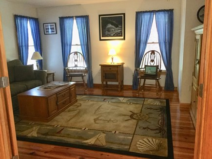 South Chatham Cape Cod vacation rental - Downstairs Den with Pull-Out Queen Bed & T.V.