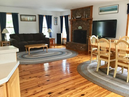 South Chatham Cape Cod vacation rental - Living Room From Kitchen
