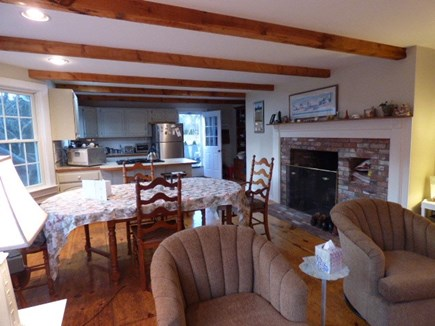 Dennis Cape Cod vacation rental - Dining area open to kitchen and sitting room