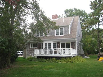 Dennis Cape Cod vacation rental - Large private back yard with deck off house