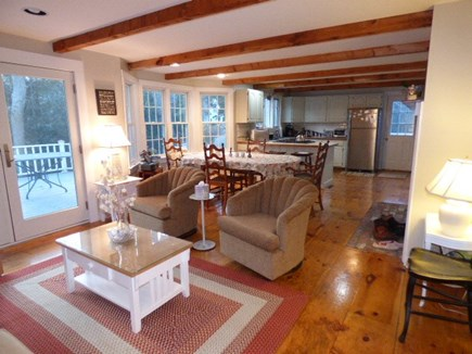 Dennis Cape Cod vacation rental - Family room with slider to back deck