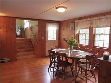 Eastham Cape Cod vacation rental - Dining Room looking up to Family Room