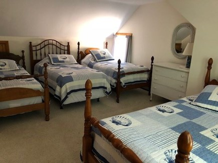 North Eastham Cape Cod vacation rental - Large second floor bedroom with 4 twin beds