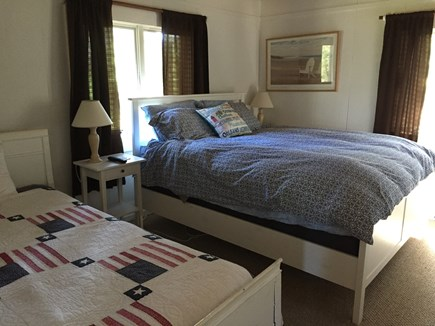 Wellfleet Cape Cod vacation rental - Larger Bedroom with one queen and one twin bed