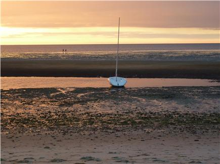 Brewster Cape Cod vacation rental - Sunset on private community  Cape Cod Bay Beach at low tide.