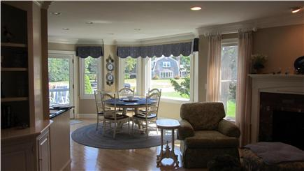 East Dennis Cape Cod vacation rental - Sitting room with lovely fireplace