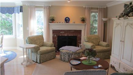 East Dennis Cape Cod vacation rental - Sitting room with fireplace