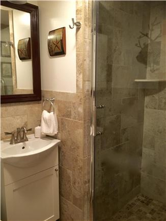 West Yarmouth Cape Cod vacation rental - Newly designed bathroom with tiled glass shower