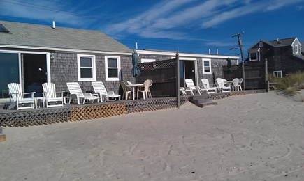 Dennis Port Cape Cod vacation rental - Beach view of Unit B & C decks.
