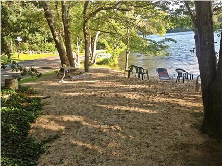 West Barnstable Cape Cod vacation rental - The family-friendly, private, pondfront beach a short walk away