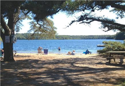 Brewster Cape Cod vacation rental - 3-5 minute walk to this picturesque beach on Sheep's Pond