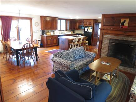 Brewster Cape Cod vacation rental - The open layout of the kitchen, dining room and sitting area