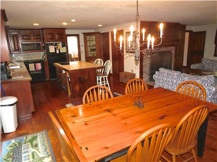 Brewster Cape Cod vacation rental - The kitchen is good sized with an island and a dining area