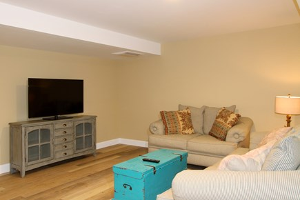 Brewster Cape Cod vacation rental - Finished Basement with sitting area and flat screen TV