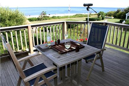 East Orleans Cape Cod vacation rental - Apartment Deck Overlooking Nauset Beach
