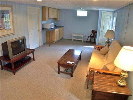 Brewster Cape Cod vacation rental - Lower level is partially finished and walks out to a patio