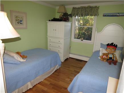 Brewster Cape Cod vacation rental - Middle bedroom has these comfy twin beds.+ TV