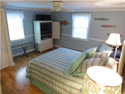 Brewster Cape Cod vacation rental - Master bedroom has a Queen and yet another TV