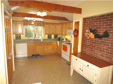 Brewster Cape Cod vacation rental - Fully equipped kitchen is enhanced by vaulted ceiling, skylights