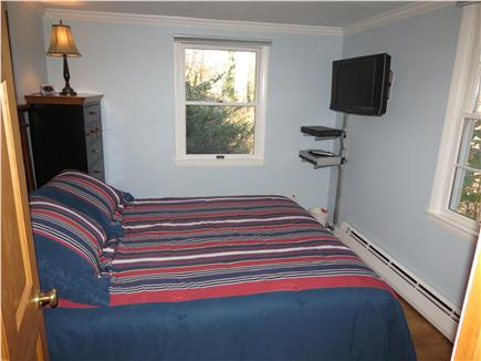 Brewster Cape Cod vacation rental - Queen bedroom with flat screen, wall mounted TV.