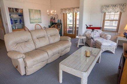 Falmouth Cape Cod vacation rental - Upstairs Living / Family Room and Dining Area