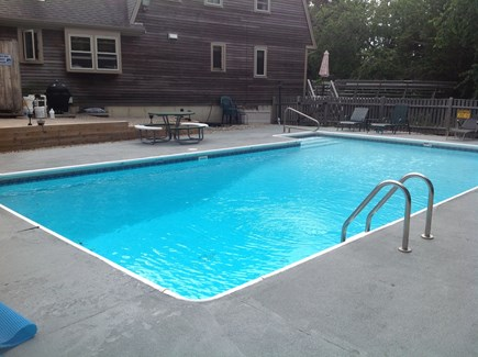 Dennis Cape Cod vacation rental - Relax by pool from decks or beautiful landscaped yard.