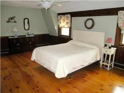Dennis Cape Cod vacation rental - Spacious master bedroom with ceiling fan and separate bathroom