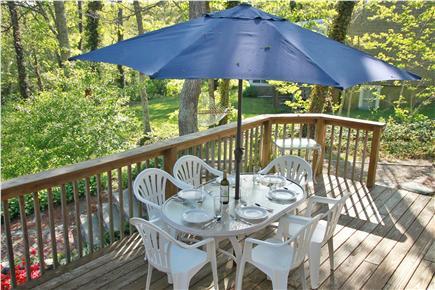 Brewster Cape Cod vacation rental - Large rear deck - roof deck off top floor master bedroom