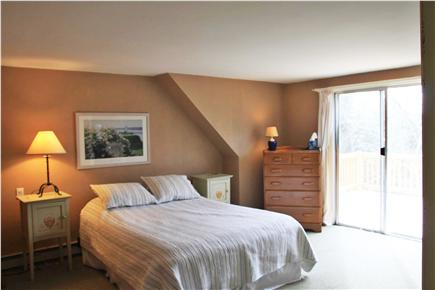 Brewster Cape Cod vacation rental - Master Bedroom with Slider to Roof Deck