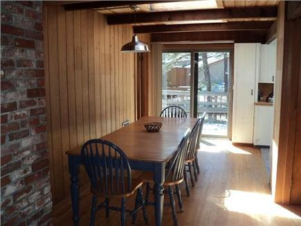 Wellfleet Cape Cod vacation rental - Dining room table seats 10, sliders to deck