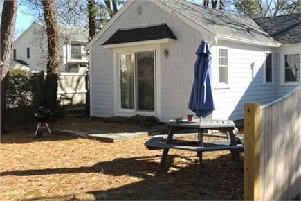 Harwich Cape Cod vacation rental - Rear of House in Winter
