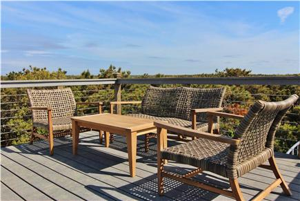 Truro Cape Cod vacation rental - Roof Deck Sitting Area